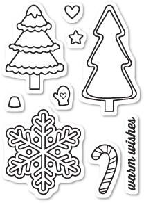 Memory Box Clear Stamps CHRISTMAS COOKIES Open Studio CL5185