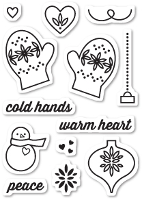 Memory Box Clear Stamps WARM HEART Open Studio CL5188