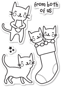 Memory Box Clear Stamps CAT FRIENDS POPPY STAMPS CL433