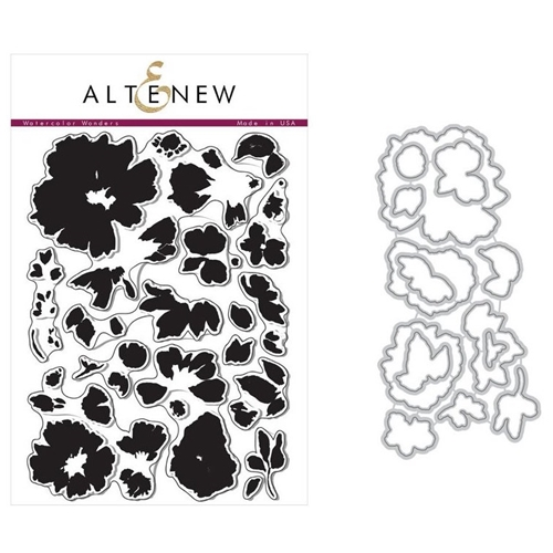 Altenew WATERCOLOR WONDERS Clear Stamp and Die BUNDLE * Preview Image