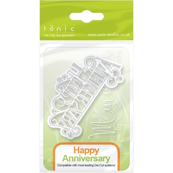 Tonic HAPPY ANNIVERSARY Miniature Moments Sentiment Die 1248E