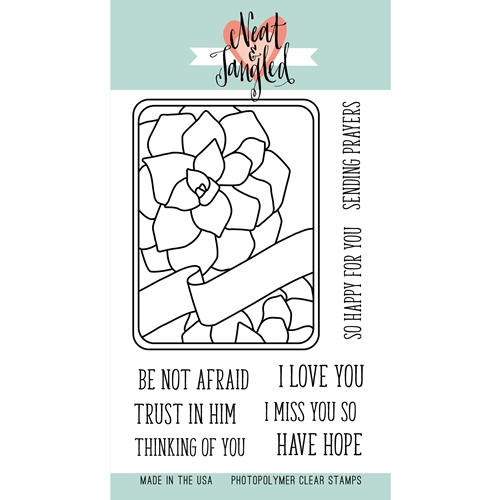 Neat and Tangled SUCCULENT JOURNALING CARD Clear Stamp Set NAT180 Preview Image