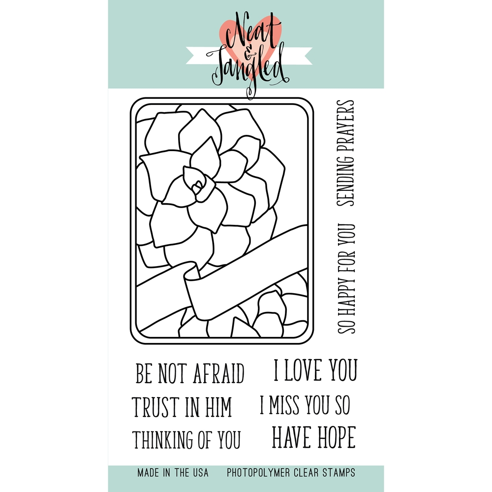 Neat and Tangled SUCCULENT JOURNALING CARD Clear Stamp Set NAT180 zoom image