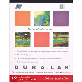 Grafix DURALAR CLEAR Wet Media Paper Pad P04DW1114*
