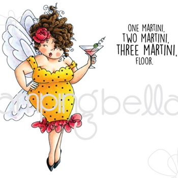 Stamping Bella Cling Stamp EDNA NEEDS A MARTINI Rubber UM EB397