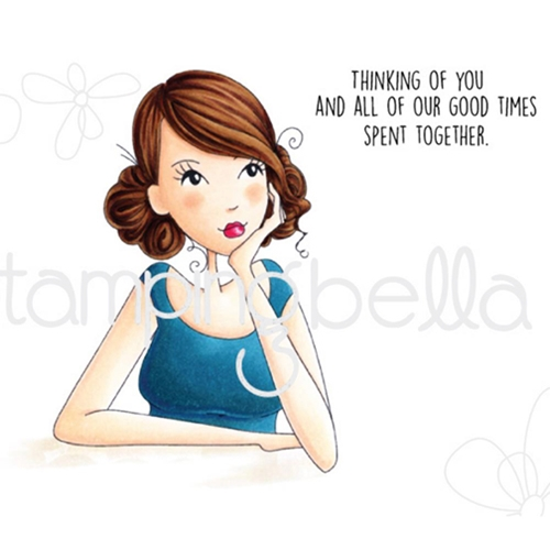Stamping Bella Cling Stamp THINKING OF YOU Rubber UM EB409 Preview Image