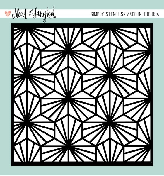 Neat and Tangled GEOMETRIC BLOOMS Stencil NAT185 zoom image