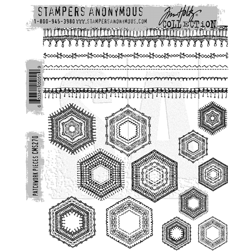 Tim Holtz Cling Rubber Stamps 2016 PATCHWORK PIECES CMS270 Preview Image