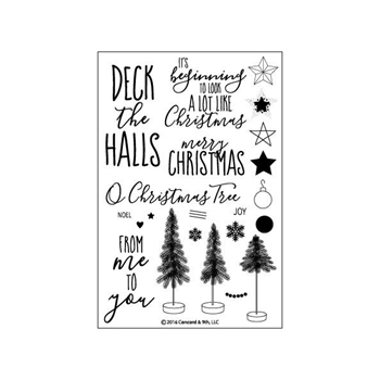 Concord & 9th O CHRISTMAS TREE Clear Stamp Set 10098C9