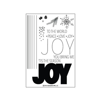 Concord & 9th JOY Clear Stamp Set 10101C9
