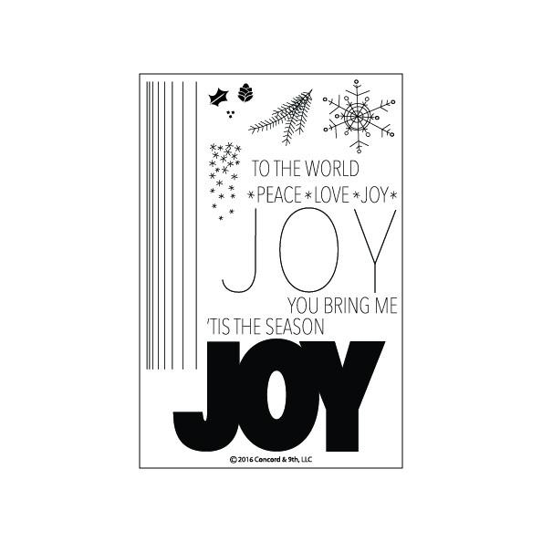 Concord & 9th JOY Clear Stamp Set 10101C9 zoom image