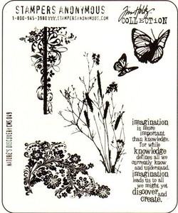 Tim Holtz Cling Rubber Stamps NATURE'S DISCOVERY Stampers Anonymous CMS049