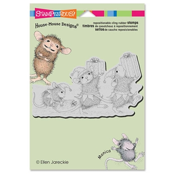 Stampendous Cling Stamp ELF GIFTS Rubber UM HMCP54 House Mouse