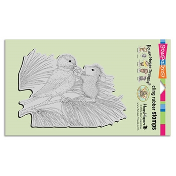 Stampendous Cling Stamp BIRDIE BOW Rubber UM HMCR71 House Mouse