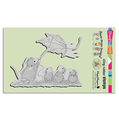 Stampendous Cling Stamp LEAF KITE Rubber UM HMCR80 House Mouse Preview Image