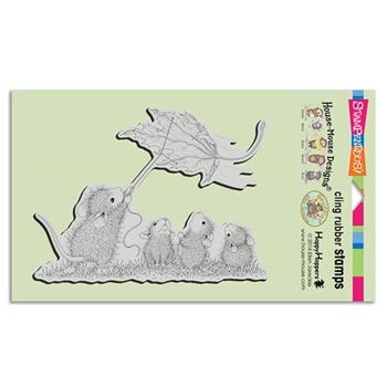 Stampendous Cling Stamp LEAF KITE Rubber UM HMCR80 House Mouse