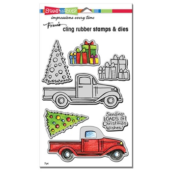 Stampendous TRUCK TIDINGS Stamp and Die Set CLD01