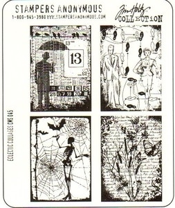 Tim Holtz Cling Rubber Stamps ECLECTIC COLLAGES CMS045 Preview Image