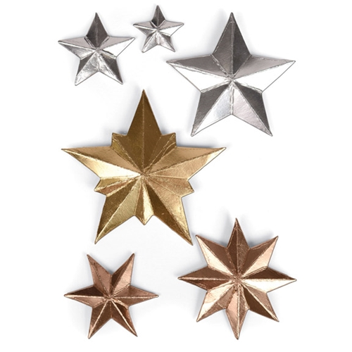 Tim Holtz Sizzix DIMENSIONAL STARS Thinlits Die 661595 Preview Image