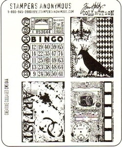 Tim Holtz Cling Rubber Stamps CREATIVE COLLAGES Stampers Anonymous CMS044