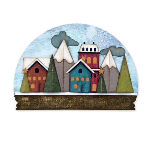Tim Holtz Sizzix SNOWGLOBE Thinlits Die 661603 Preview Image