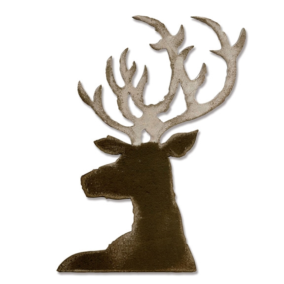 Tim Holtz Sizzix DASHING DEER Bigz Die 661606 zoom image