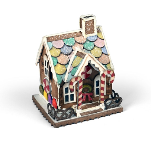 Tim Holtz Sizzix VILLAGE GINGERBREAD Bigz Die 661608 Preview Image