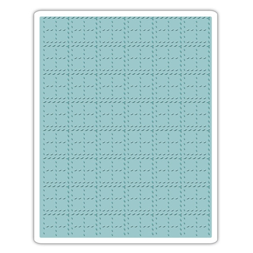 Tim Holtz Sizzix STITCHED PLAID Texture Fades Embossing Folder 661610 Preview Image