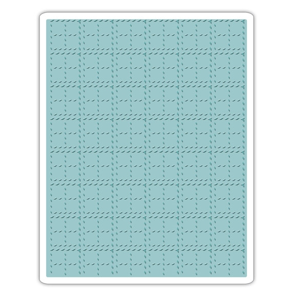 Tim Holtz Sizzix STITCHED PLAID Texture Fades Embossing Folder 661610 zoom image