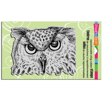 Stampendous Cling Stamp LOOK INTO MY EYES Rubber UM CRR268