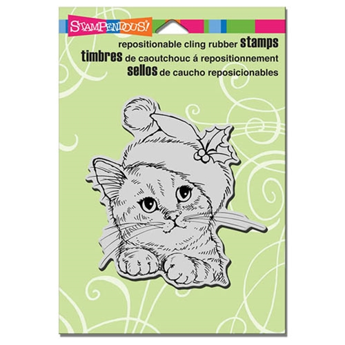 Stampendous Cling Stamp WONDEROUS KITTEN Rubber UM CRW173 Preview Image