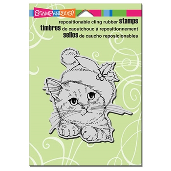 Stampendous Cling Stamp WONDEROUS KITTEN Rubber UM CRW173