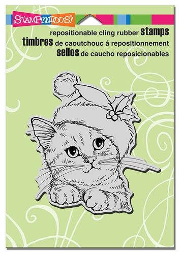 Stampendous Cling Stamp WONDEROUS KITTEN Rubber UM CRW173 zoom image