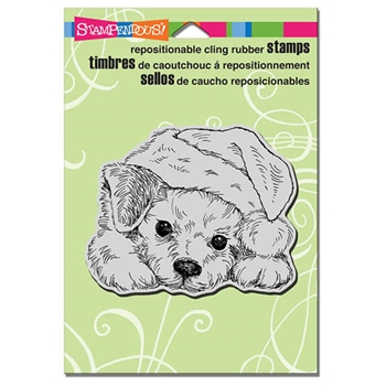Stampendous Cling Stamp PATIENT PUP Rubber UM CRW174