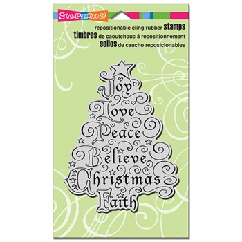 Stampendous Cling Stamp JOY TREE Rubber UM CRR275