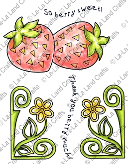 La-La Land Crafts Cling Stamp BERRY SWEET 5304