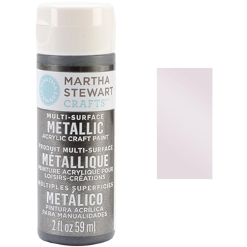 Martha Stewart ROSE CHROME 2oz Multi-Surface Metallic Acrylic Paint 32995