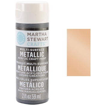 Martha Stewart PALE BRONZE 2oz Multi-Surface Metallic Acrylic Paint 32999