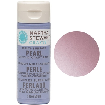 Martha Stewart PINK TAFFETA 2oz Multi-Surface Pearl Acrylic Paint 32117