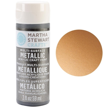 Martha Stewart COPPER 2oz Multi-Surface Metallic Acrylic Paint 32109