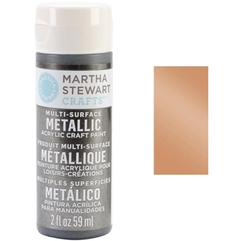Martha Stewart ROSE GOLD 2oz Multi-Surface Metallic Acrylic Paint 33001