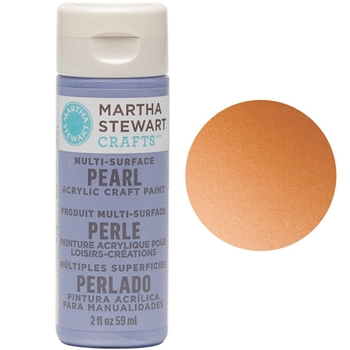 Martha Stewart TIGER LILY 2oz Multi-Surface Pearl Acrylic Paint 32112