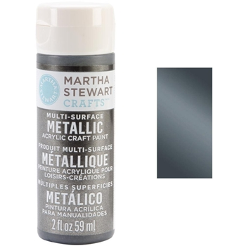Martha Stewart GUNMETAL 2oz Multi-Surface Metallic Acrylic Paint 32990