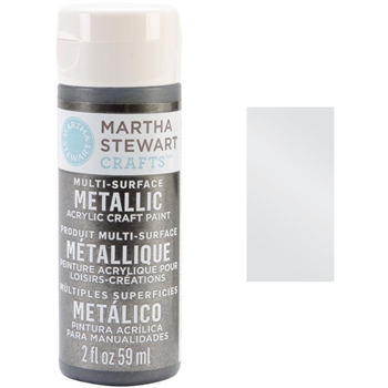 Martha Stewart PURE PLATINUM 2oz Multi-Surface Metallic Acrylic Paint 32992