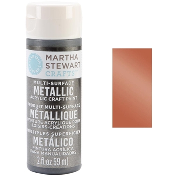 Martha Stewart ROSE COPPER 2oz Multi-Surface Metallic Acrylic Paint 33002