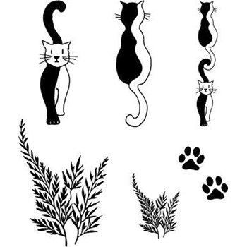Claritystamp ENTWINED CATS Clear Stamps STAAN10247A5*