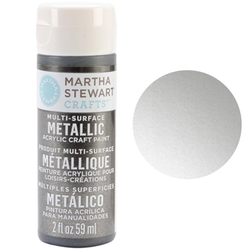 Martha Stewart STERLING 2oz Multi-Surface Metallic Acrylic Paint 32128