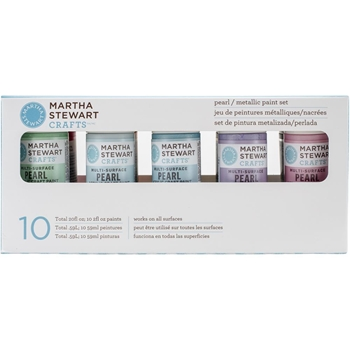 Martha Stewart PEARL AND METALLIC Acrylic Craft Paint Set 32310*