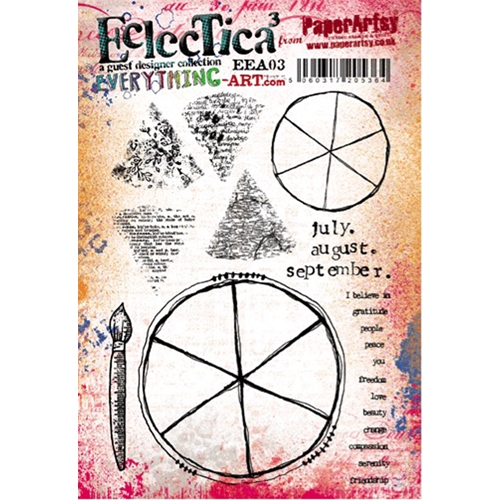 Paper Artsy EVERYTHING ART 03 ECLECTICA3 Rubber Cling Stamp EEA03 Preview Image