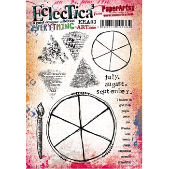 Paper Artsy EVERYTHING ART 03 ECLECTICA3 Rubber Cling Stamp EEA03